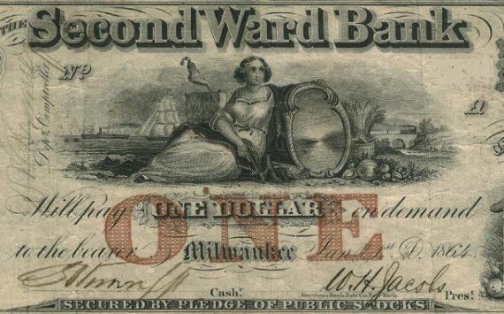 Démonétisation de dollars du WISCONSIN: les émeutes de 1861