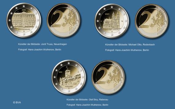 Allemagne: Pièces commémoratives de 2€ 2020-2022 «Bundesländer»