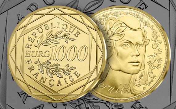 250 & 1000 euros Or – La monnaie de paris présente sa dernière série de la collection Marianne 2019