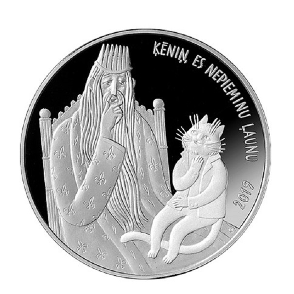 Latvia: a 2019 silver coin to commemorate the fairy tale Cat's Mill