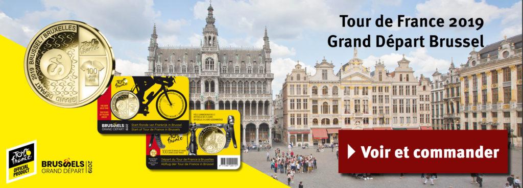 La Belgique émet une pièce Tour de France Grand Départ à Bruxelles 2019