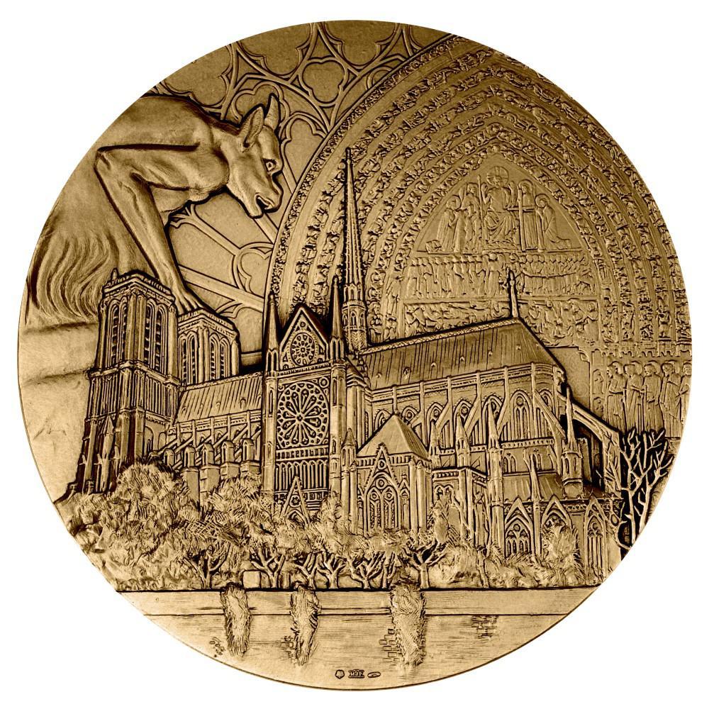 La Monnaie de Paris va rééditer une médaille au profit de Notre-Dame de Paris - Médaille Notre-Dame de Paris - Monnaie de Paris 2019