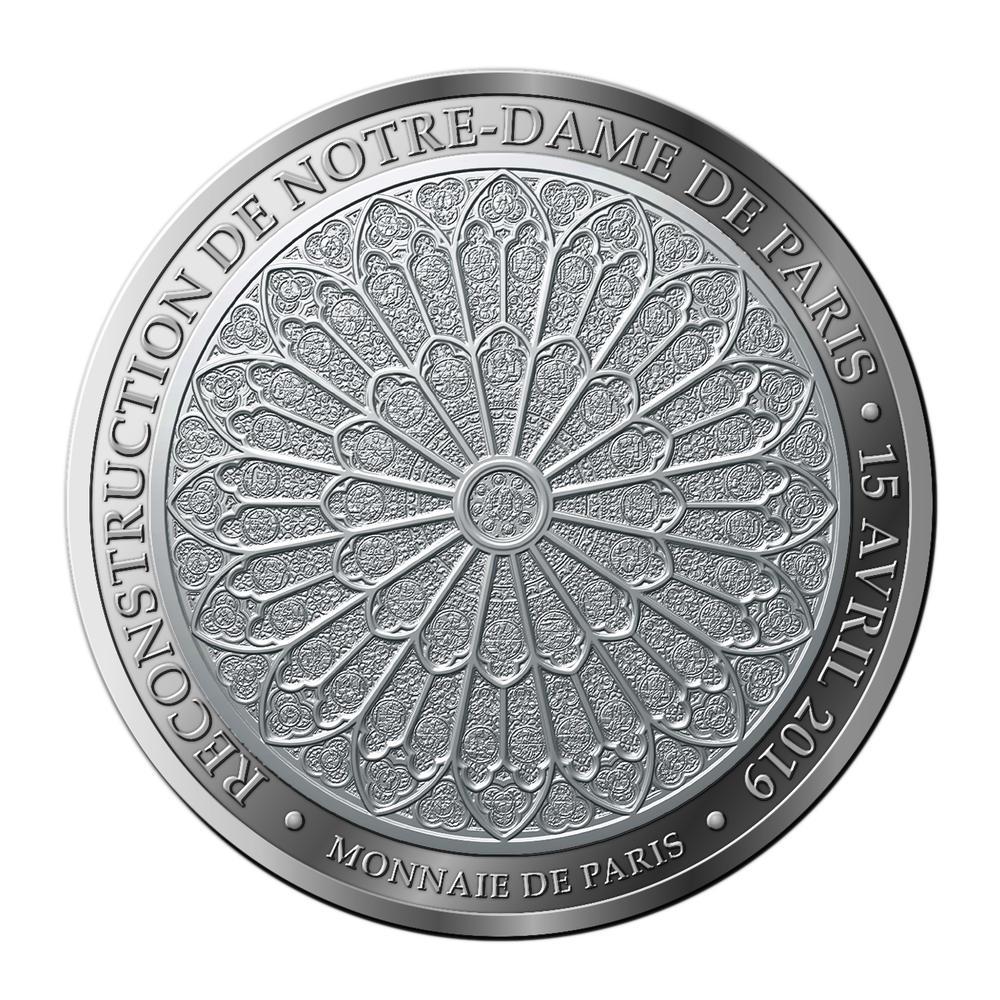 Médaille Notre-Dame de Paris - Monnaie de Paris 2019 pièce 10 € Médaille Notre-Dame de Paris