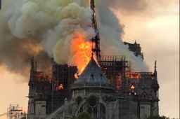 Notre Dame de Paris on  fire!