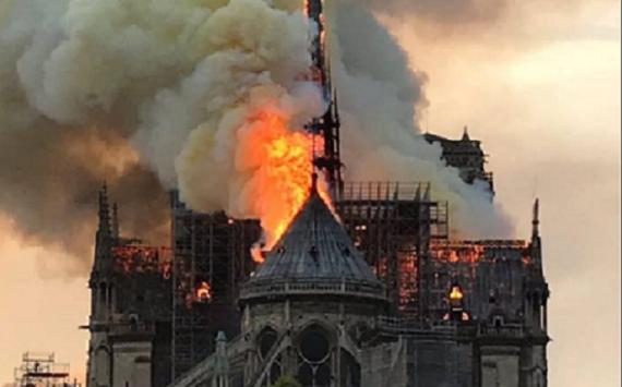Notre Dame de Paris on  fire!