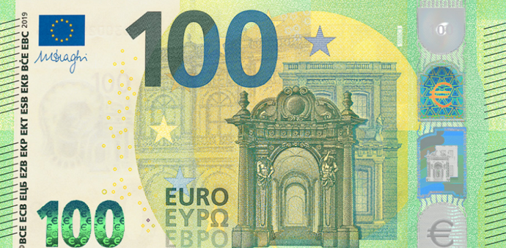 Two new innovative safety features on new €100 and €200 ECB Banknotes