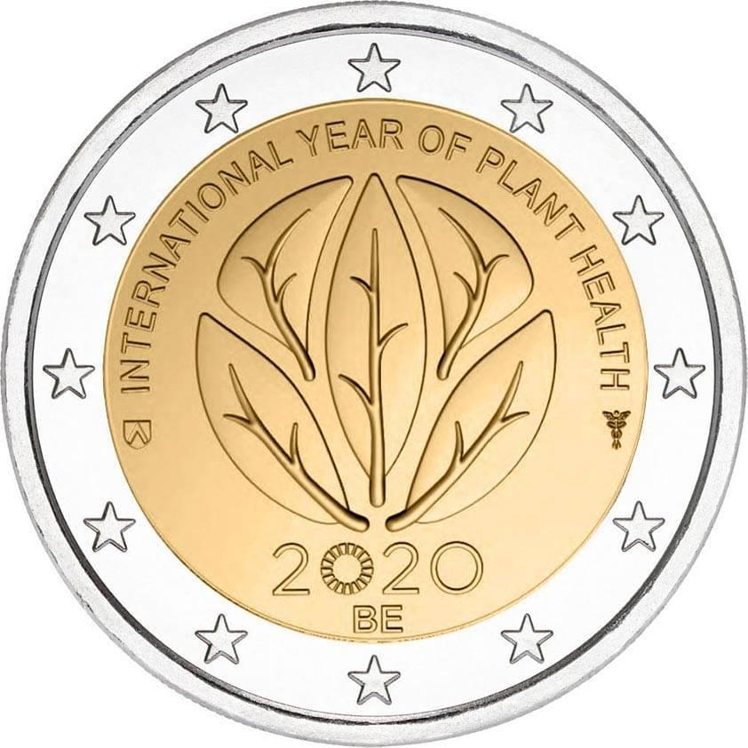 Pièces 2 euro commémoratives 2020 - 2€ Belgique 2020 - l'Année internationale de la santé des végétaux 2020