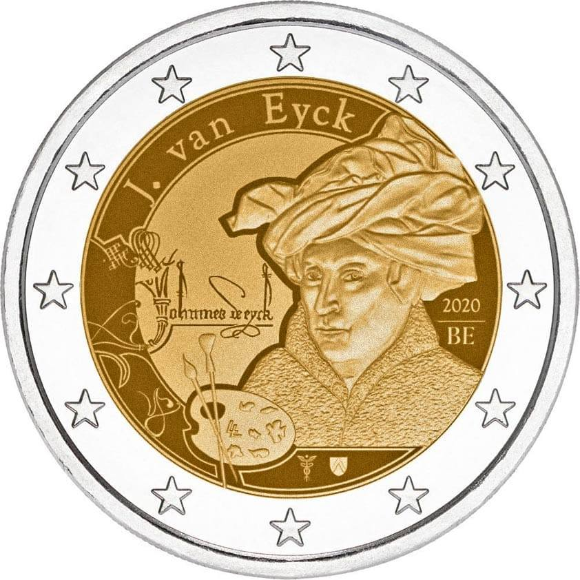 Pièces 2 euro commémoratives 2020 - 2€ Belgique 2020 - Jan van Eyck