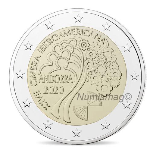 2 eurosAndorre 2020 - 27ème sommet ibéro-américain