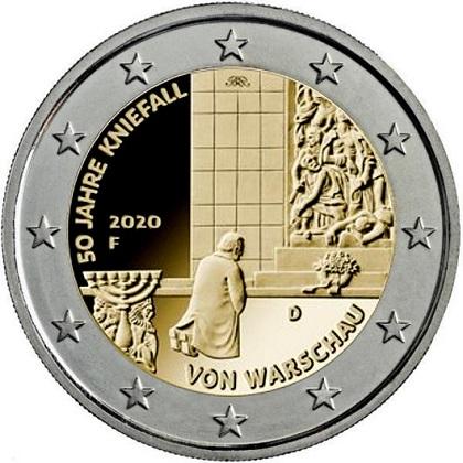 2 euros 50 Jahre Kniefall 2020 Germany