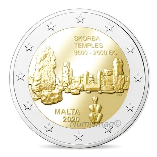 2 € euro commemorative 2020 Malta the Temples of Skorba