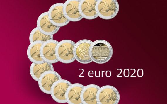 Pièces 2 euro commémoratives 2020