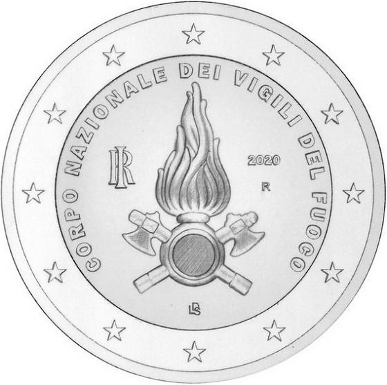 2 euros -National fire brigade - Italy 2020
