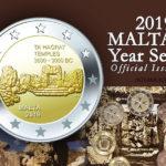 Coffret BU Euro MALTE 2019 - TEMPLE DE TA'HAGRAT - pièce de 2 euro temples de Ta' Hagrat