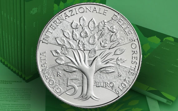 5 Euro coin silver BU San Marino, dedicated to the International Day of Forests – 2019