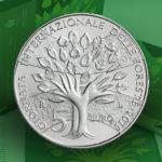 Pièce en argent de 5 Euros BU Saint Marin, dédiée à la Journée Internationale des Forêts - 2019