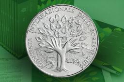 Pièce en argent de 5 Euros BU Saint Marin, dédiée à la Journée Internationale des Forêts – 2019