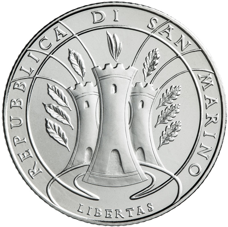 5 Euro coin silver BU San Marino, dedicated to the International Day of Forests - 2019