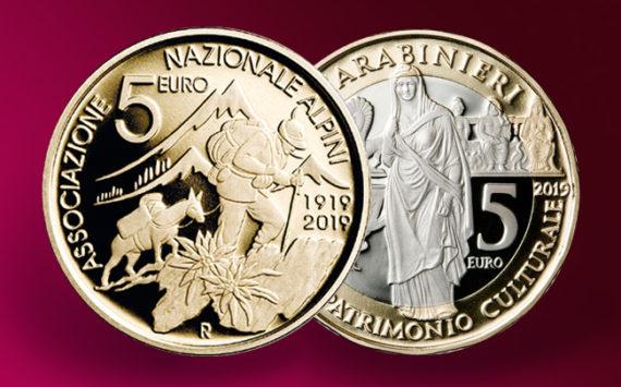 5 euros les carabiniers et le Corps Alpin 2019 – Monnaie italienne