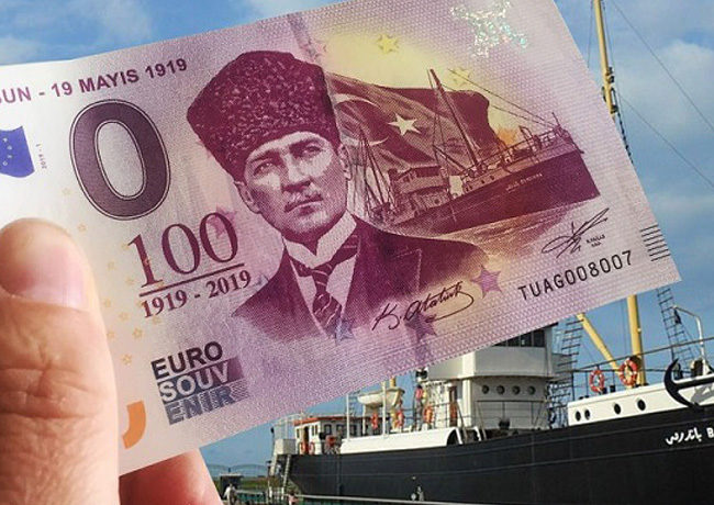 New 2019 zero euro banknotes series ATATURK – Mustafa KEMAL