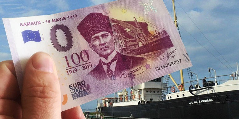 New 2019 zero euro banknotes series ATATURK - Mustafa KEMAL