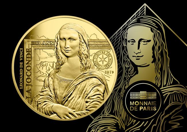 Pièces la joconde 2019 monnaie de Paris – série Excellence à la française