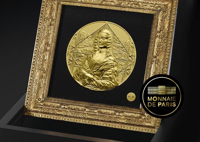 LA JOCONDE MONNAIE DE 1 KG OR Une monnaie d'exception d'un kilo d'or - La Joconde monnaie de Paris 2019