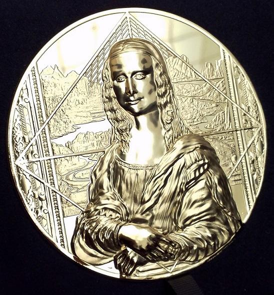 Une monnaie d'exception d'un kilo d'or - La Joconde monnaie de Paris 2019 - LA JOCONDE MONNAIE DE 1 KG OR