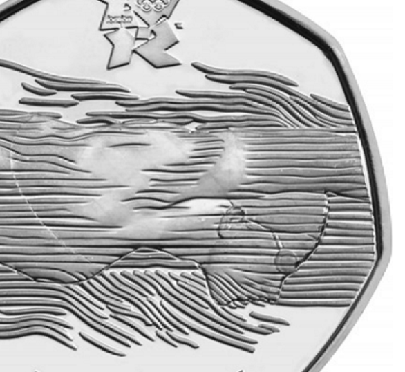 2011  50 pence swimmer coin – the rarest 50 pence coin, since 1969