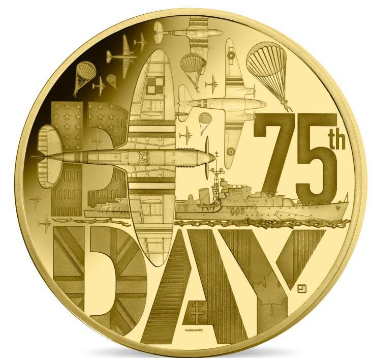 monnaie 50 euros Or BE Dday monnaie de paris 2019