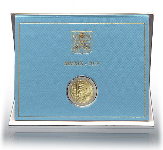 2 euro VATICAN 2019 coin 2 € commemorative 2019 Vatican for the 90th anniversary of the foundation of the Vatican State