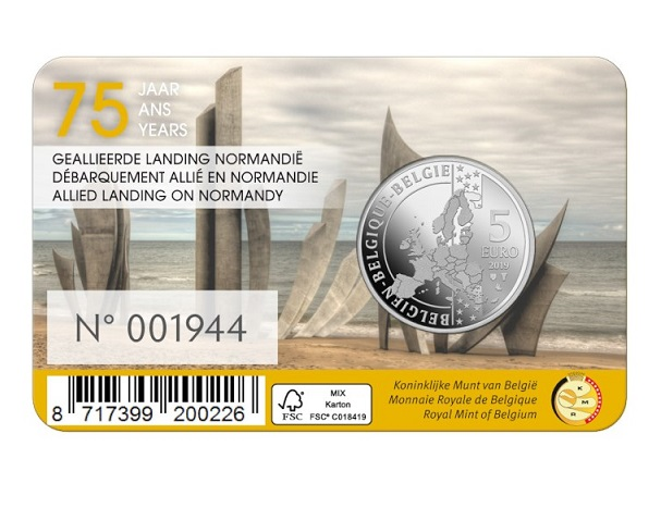 75th anniversary coins of allies landing in France, june 6th 1944