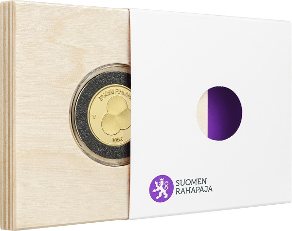 2019 €100 gold coin dedicated to Constitution Act of Finland 1919