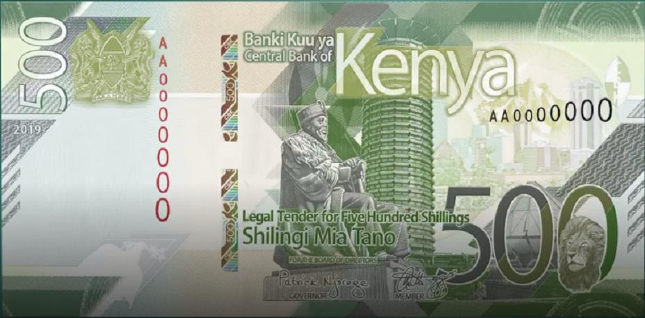 2019 Kenya Big Five new banknotes series introduced by Governor Patrick Njoroge