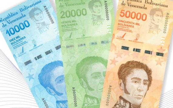 Venezuela – émission de 3 nouvelles grosses coupures de 10 000, 20 000 et 50 000 bolivars