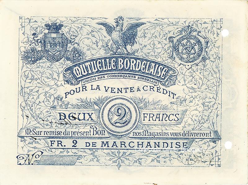 10 francs de la Mutuelle Bordelaise