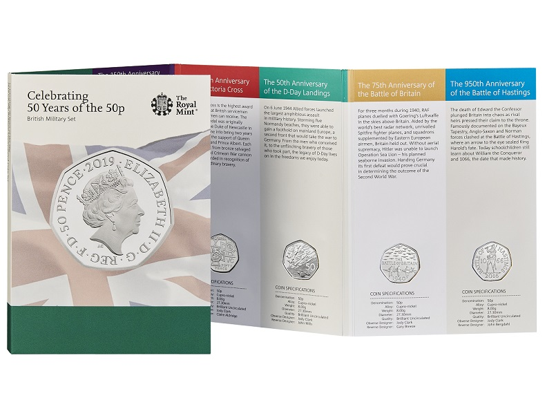 The Royal Mint celebrates 50 Years of the 50pence - 2019 Military Set