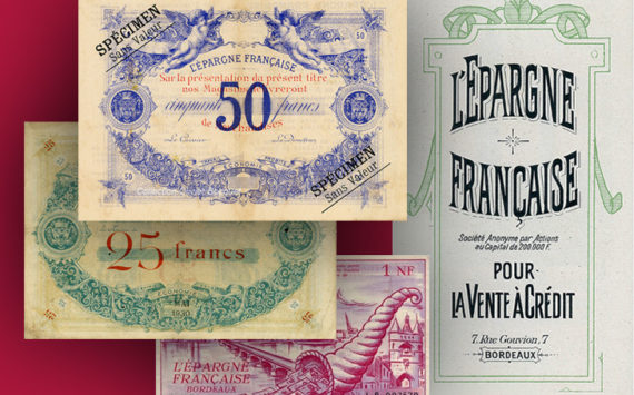 Aquitaine – Les bons de l'Epargne Française, Union commerciale de Bordeaux – Catalogue et cotation