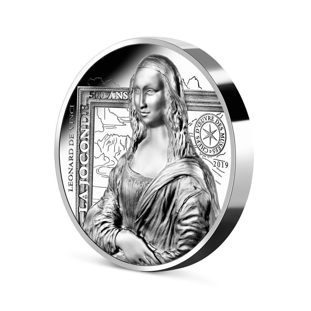 Monnaie de 20 € La Joconde en argent999 ‰ BE - Haut-relief