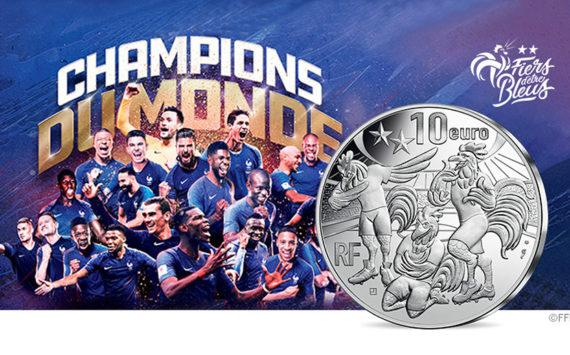Monnaie de collection 10 euro BE champions du monde 1er anniversaire du titre 2018 – Monnaie de Paris 2019