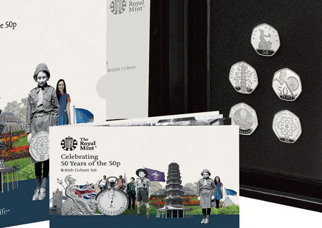 The Royal Mint celebrates 50 Years of the 50pence – 2019 Military Set