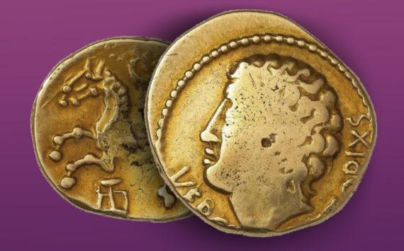 Un très rare Statère en or de Vercingétorix en vente à Drouot