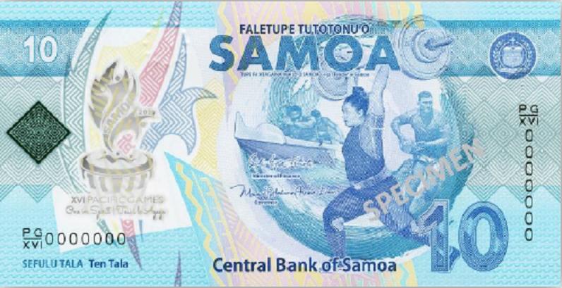 2019 SAMOA new 10 tala commemorative banknote - XVI Pacific Games