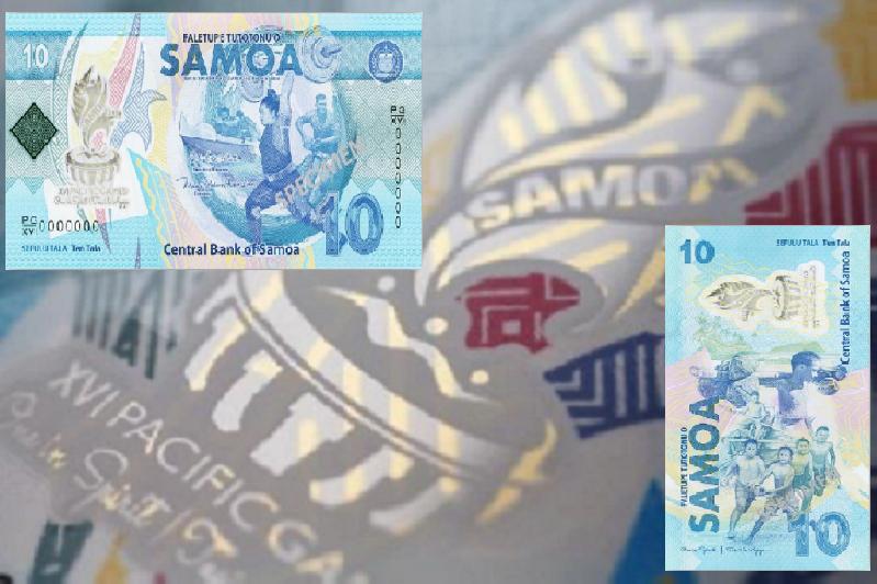 2019 SAMOA new 10 tala commemorative banknote – XVI Pacific Games