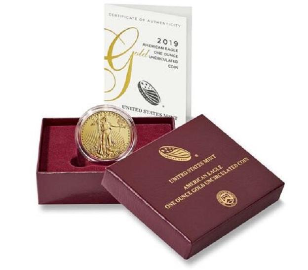 Gold Eagle Liberty 2019 UNC de l'US MINT