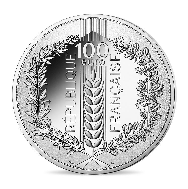 100 euro argent BE 2020 – Chêne Monnaie de Paris