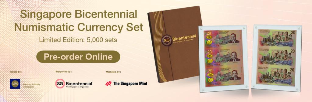 2019 Singapore 20 dollars commemorative banknote – Singapore Bicentennial