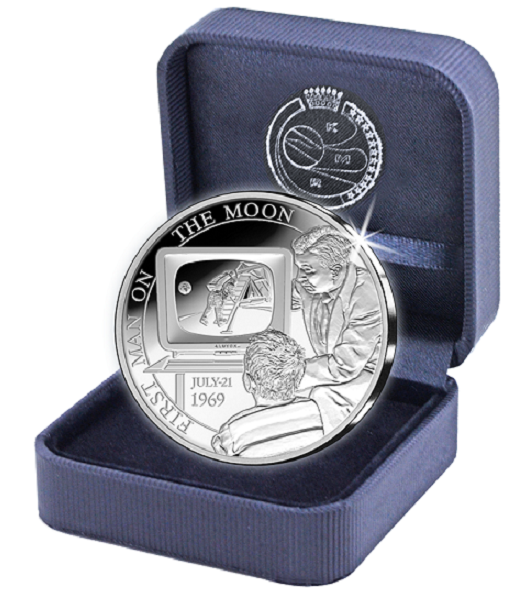 Proof silver €5 - Belgium 2019 -50 years first moon landing