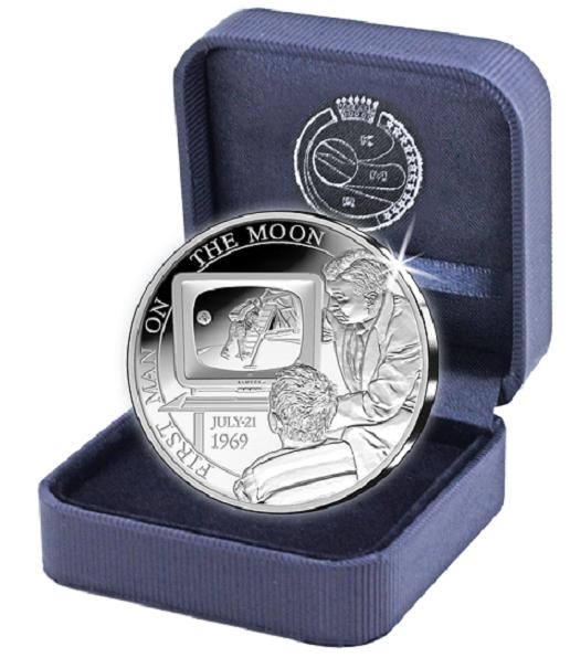 5 euros argent BE - Belgique 2019 «50 ans premier homme sur la lune»