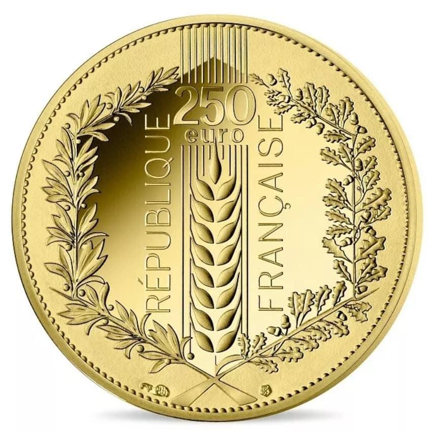 250 euro Or BE 2020 – Chêne Monnaie de Paris